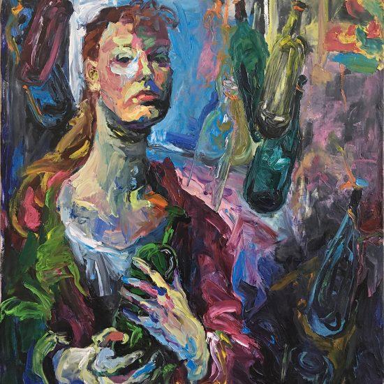 Selbstportrait | 2000 | Öl auf Leinwand | 85 x 110 cm